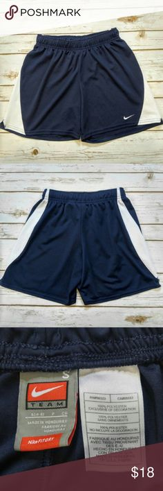 Nike Fit Dry Navy and White Athletic Shorts Nike Fit Dry Navy and White Athletic Shorts  Size Small in excellent condition. Please let me know if you have any questions. I ship the same day as long as the post office is still open. Have a great day, thanks for checking out my closet and happy poshing! Nike Shorts