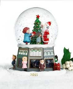 Amazon.com: Yes Virginia Glass & Resin Christmas Snow Globe by Macy's: Furniture & Decor
