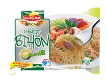 Lucky Me! Special Pancit Bihon Trace your roots back in an instant with this noodle flavor. Made with rice noodles seasoned with savory ingredients and realkalamansi (Philippine lime) taste Pancit, Brand Management, Rice Noodles, Filipino, Roots, Pride, Cooking, Kitchen, Brewing