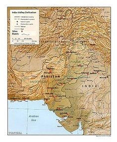 Mohenjo-daro - Map showing the major sites and theorised extent of the Indus Valley Civilisation, including the location of the Mohenjo-daro site. - Wikipedia, the free encyclopedia