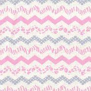 Nursery Fabric- Pink Skin Chevron Flanel