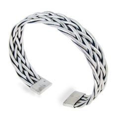 925 Sterling Silver Detailed Braided Woven Weaving Celtic Cuff Bracelet - Nickel Free *** Click on the image for additional details.