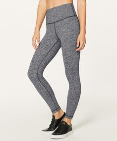 5a522113496 heathered black Lululemon Leggings High Waisted