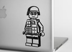 LEGO Modern Minifig Vinyl Decal - Version 2 from StickerWhale.com.  The EOD Iraq & Afghanistan LEGO soldier vinyl decal is perfect for laptops or car windows.  They have multiple sizes and colors available.