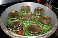 Home Canning Green Beans Canning Beans, Canning Jar Lids, Canning Tips, Home Canning, Canning Recipes, Can Green Beans, Green Beans And Potatoes, Tiny Potato, Low Acid Recipes