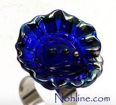 Nohline  Intense Blue Silver Statement Art Ring by NohlineLEcuyer, $25.00