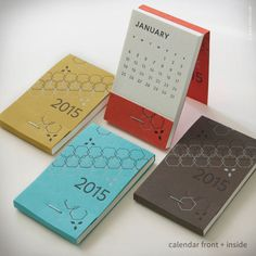 25 Modern Calendars for 2015 in style fashion main art Category in Calendar/Geometric