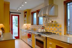 Yellow Kitchen Cabients
