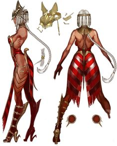 View an image titled 'Princess Iset Concept Art' in our Vindictus art gallery featuring official character designs, concept art, and promo pictures. Female Character Concept, Fantasy Character Design, Character Design Inspiration, Character Art, Black Anime Characters, Fantasy Characters, Female Characters, Fantasy Warrior, Fantasy Girl