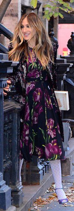 Sarah Jessica Parker in Dress – Dolce & Gabbana  Shoes – Sarah Jessica Parker