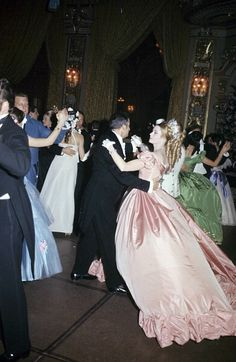 """Princess Grace dances with Jacques Chazot at the """"Second Empire"""" costume ball in Monaco, May 28, 1966   Flickr - Photo Sharing!"""