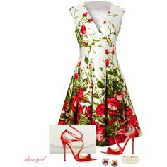 """Floral Print Dress Contest"" by sherryvl on Polyvore"