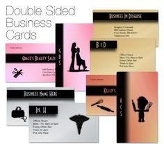 """Double Sided Business Cards"" by kashmier ❤ liked on Polyvore featuring art"