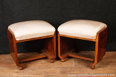 Photo of Pair Art Deco Stools Stool Seat Chair 1920s Furniture