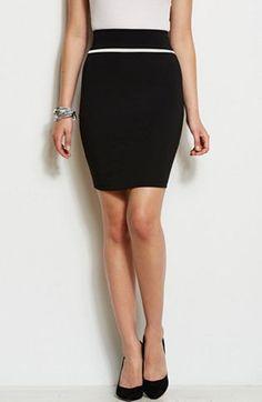 Zippered Ponte Skirt - Skirts - Womens - Armani Exchange