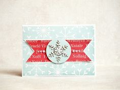 card by AgnieszkaD, using chipboard #snowflake from 3rd Eye