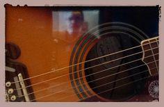 Guitar reflection.