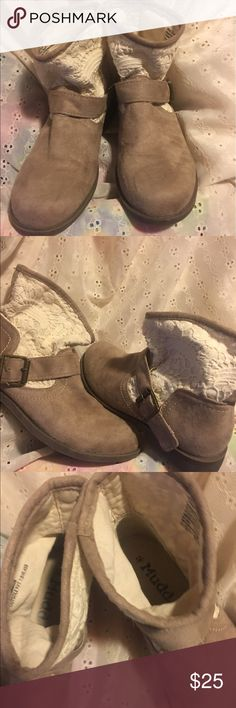 Shoes Cream and tan boots Mudd Shoes Ankle Boots & Booties
