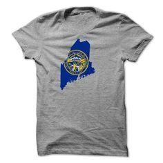 Nebraska - Maine map AC - #grey tshirt #harry potter sweatshirt. GET YOURS => https://www.sunfrog.com/States/Nebraska--Maine-map-AC.html?68278