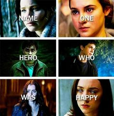 The Hunger Games, Mortal Instruments- City of Bones, Divergent, Harry Potter, Percy Jackson