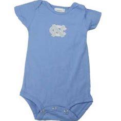 UNC North Carolina Tarheel Baby Infant Bodysuit Creeper 24 month mo blue NEW NWT