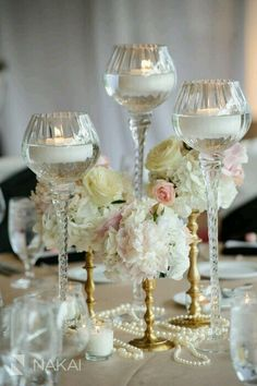 Floral and candle centerpieces