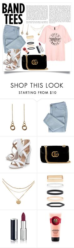 """Untitled #809"" by neflaluna ❤ liked on Polyvore featuring Laura Lombardi, Miss KG, Gucci, Accessorize, Givenchy and bandtees"