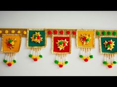 EASY DOOR TORAN FROM WOOLEN DIY DOOR HANGING TORAN FRON POM POM - YouTube