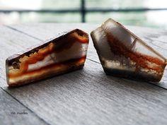 raw stone earrings clip on druzy earrings geode by MisMundos, $50.00