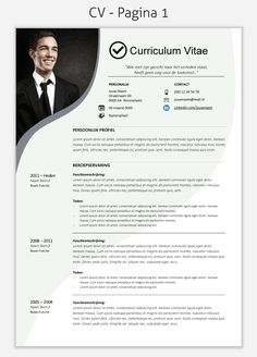 CV template 222 om te downloaden