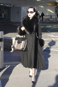 6608c5bdb7db fur jacket coat dita von teese Old Hollywood Style