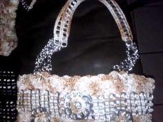 """DIY:""""Bolso Abby"""" como hacer un bolso con anillos de lata estilo abanicos. - YouTube"""