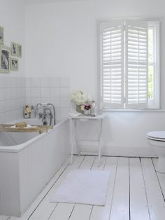 Wooden shutters - Cool Shutter company in Timperley - also lovely look for the bathroom