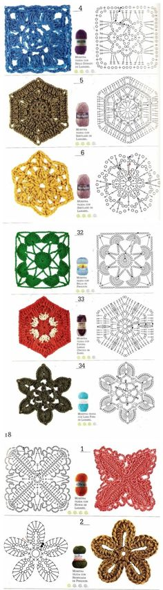 Crochet Motif Collection - Free Crochet Diagrams - (duitang)
