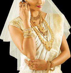Kerala Christian Bride Wedding Ring Necklaces, Bridal Jewelry, Wedding Up Do, Wedding Bride, Marquise Cut Diamond, Diamond Cuts, Kerala Jewellery, Christian Bride, Bridesmaid Saree