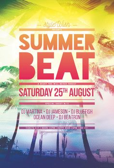 Summer flyer templates vol 1 3 by roberto perrino via behance summer beat flyer saigontimesfo
