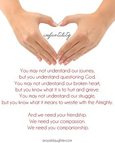 Infertility and the need for unconditional friendship