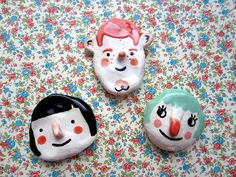 loving these adorable clay face creations from the talented tuesday bassen {@tuesdaybassen}