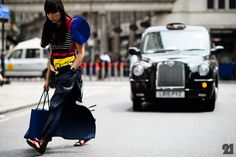 Street Style from the Men's Show In London: British journalist wearing Craig Green