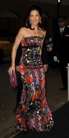 Crown Princess Mary wearing Print and Patterns