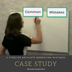 Find out how to avoid common #affiliate mistakes new marketers make when getting into the business http://bit.ly/4types-affiliate-mistakes #marketingtips