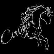 Cowgirl Horse Rhinestone Tshirt Design tshirt by BlingnPrintStreet