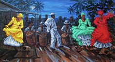 Caribbean Dance Painting - Los Ayala by Samuel Lind
