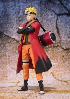 Naruto S.H. Figuarts Actionfigur Naruto Uzumaki Sage Mode Advanced Ver. Tamashii Web Exclusive 14 cm