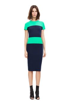 something i like @Victoria Beckham.com  icon colour block cap fitted dress | spring summer 13 icons