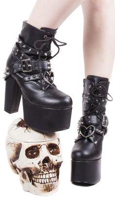 Demonia Torment-700 Platform Boots