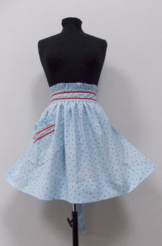 Betsy Rae Retro Half Apron – Vintage Style Aprons By Violet Jones Retro Apron, Aprons Vintage, Vintage Style, Vintage Fashion, Half Apron, Ballet Skirt, Skirts, Handmade, Skirt