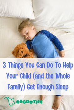 If your child is not getting enough sleep it can be not only very tiring for parents, it can also have a negative impact on your child's health. #family #sleep