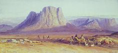 The Camel Train, 1848 |  Edward Lear