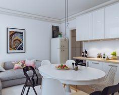 No sólo se puede vivir en 25 metros cuadrados, sino que podemos darle color y una decoración de diez.